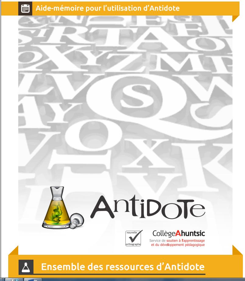 Guide Antidote Collège Ahuntsic